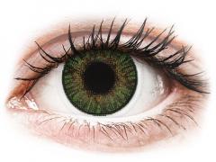 Drágakő zöld FreshLook ColorBlends kontaktlencse - dioptria nélkül (2 db lencse)