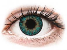 Türkiz FreshLook ColorBlends kontaktlencse - dioptria nélkül (2 db lencse)