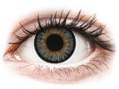 Kék Freshlook One Day Color kontaktlencse - dioptriával (10 db lencse)