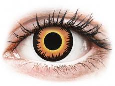 Narancssárga Werewolf ColourVUE Crazy Lens napi lencsék - dioptria nélkül (2 db lencse)