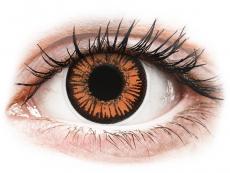Narancssárga Twilight ColourVUE Crazy Lens napi lencsék - dioptria nélkül (2 db lencse)