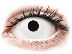 Fehér Whiteout ColourVUE Crazy Lens napi lencsék - dioptria nélkül (2 db lencse)