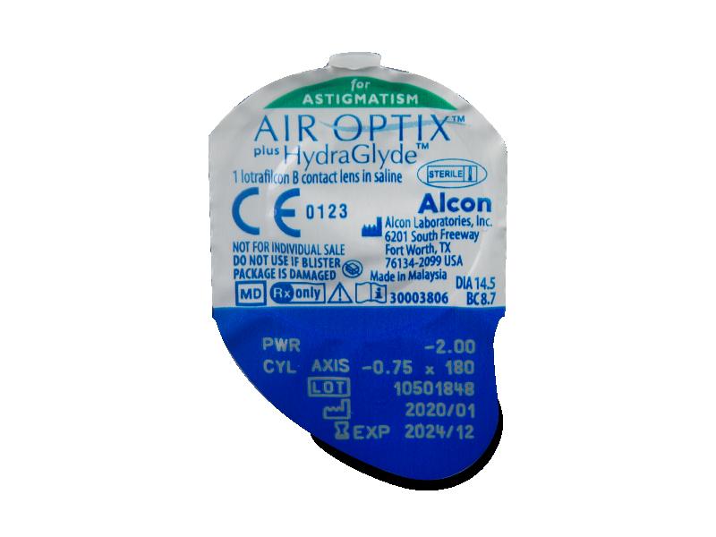 Air Optix plus HydraGlyde for Astigmatism (3 db lencse)