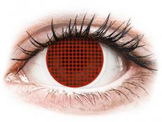 Piros Red Screen ColourVUE Crazy Lens kontaktlencse - dioptria nélkül (2 db lencse)