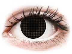 Black Screen fekete ColourVUE Crazy Lens kontaktlencse - dioptria nélkül (2db lencse)