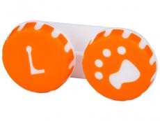Tappancs mintázatú kontaktlencse tartó - narancs színű