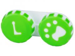 Tappancs mintázatú kontaktlencse tartó - zöld