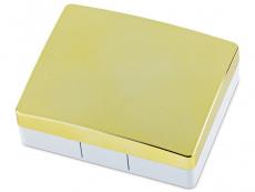 Elegáns lencse tartó tükörrel - sárga színű