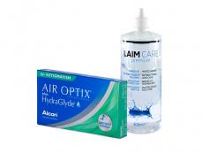 Air Optix plus HydraGlyde for Astigmatism (3 db lencse) + 400 ml Laim-Care ápolószer
