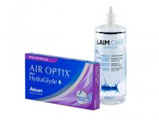 Air Optix plus HydraGlyde Multifocal (6 db lencse) + 400 ml Laim-Care ápolószer