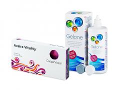 Avaira Vitality (6 db lencse) + 360 ml Gelone ápolószer