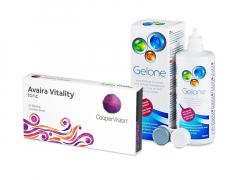 Avaira Vitality Toric (3 db lencse) + 360 ml Gelone ápolószer