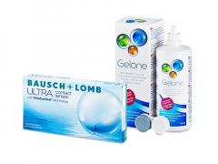 Bausch + Lomb ULTRA (6 db lencse) + 360 ml Gelone ápolószer