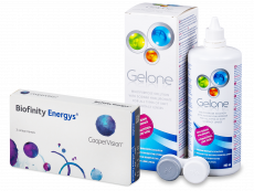 Biofinity Energys (3 db lencse) + 360 ml Gelone ápolószer