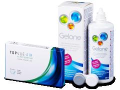 TopVue Air for Astigmatism (3db lencse) + 360 ml Gelone ápolószer