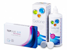 TopVue Air Multifocal (3db lencse) + 360 ml Gelone ápolószer
