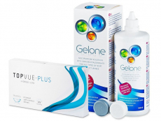 TopVue Monthly Plus (6 db lencse) +Geloneápolószer 360ml