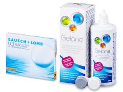Bausch + Lomb ULTRA for Astigmatism(3 lencse) + 360 ml Gelone ápolószer