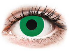 CRAZY LENS - Emerald Green - dioptria nélkül napi lencsék (2 db lencse)