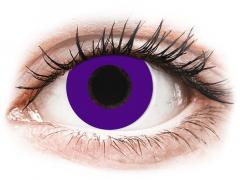 CRAZY LENS - Solid Violet - dioptriával napi lencsék (2 db lencse)