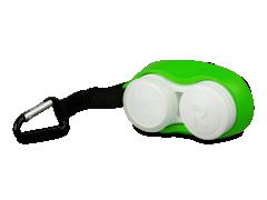 Lencsetartó karabinerrel - zöld