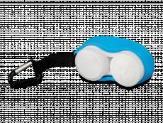 Lencsetartó karabinerrel - kék
