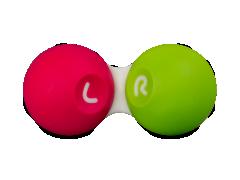 Kontaktlencse tartó - Pink / zöld