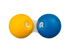 Kontaktlencse tartó - Sárga / kék