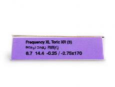 FREQUENCY XCEL TORIC XR (3db lencse)