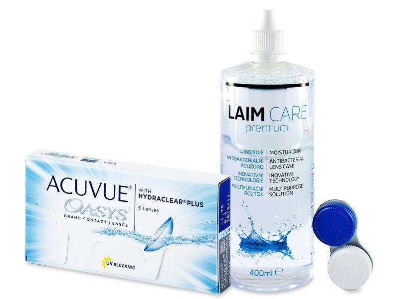 Acuvue Oasys (6db lencse) +400 ml Laim-Careápolószer