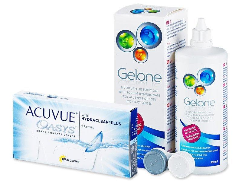 Acuvue Oasys (6db lencse) +360 ml Geloneápolószer