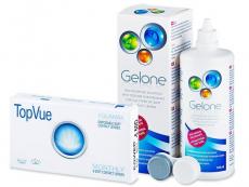 TopVue Monthly (6db lencse) +360ml Geloneápolószer